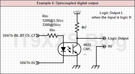 Optocoupled output
